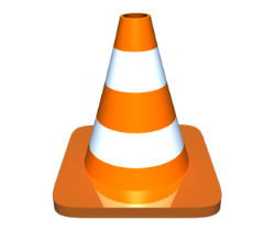 Cone with base that has rounded corners