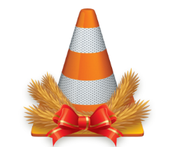 Cone with floral christmas arrangement