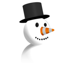 Snowman with Cone nose