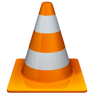 video player with traffic cone