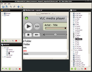 VLC Skin Editor Screenshot