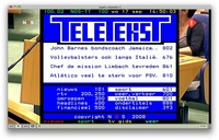 Mac OS X 10.5.4 - Teletext presentation on EyeTV captured Digital Terrestial television signal