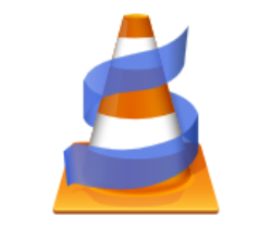 Orange cone with blue strip around it