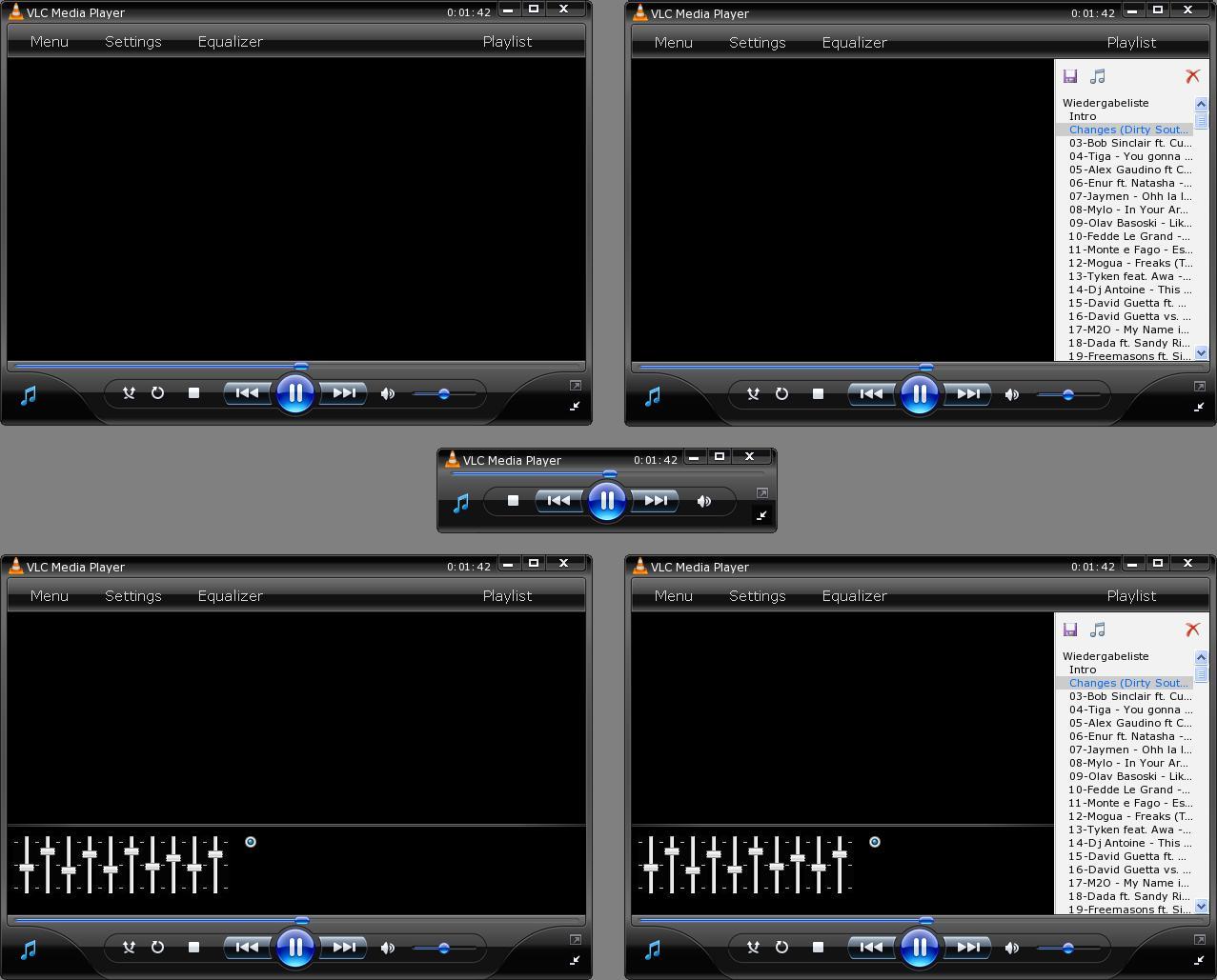 Ultimo VideoLAN (VLC) 0.9.6c + 2 Skins