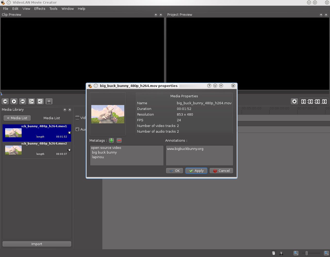 VLMC, open source video editor - VideoLAN